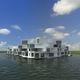edificio prefabbricato / flottante / per alloggi collettivi / moderno