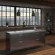 cucina moderna / in acciaio inox / in acciaio inossidabile / con isola