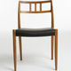 sedia design scandinavo / in rovere / in noce / in teak