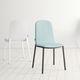 sedia moderna / imbottita / in tessuto / in legno laccato