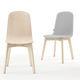 sedia design scandinavo / imbottita / in tessuto / in legno laccato