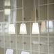 lampada a sospensione / moderna / in alluminio / in vetro soffiato