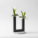 vaso moderno / in metallo verniciato / in terrazzo
