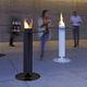 tavolo alto moderno / in acciaio inossidabile / in acciaio verniciato / in vetro temprato