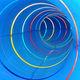 scivolo girevole / per parco acquatico / con effetti luminosi e sonori / tubolare