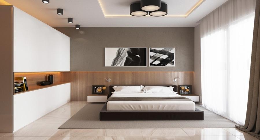 4 camere da letto di lusso con i dettagli unici della parete ...