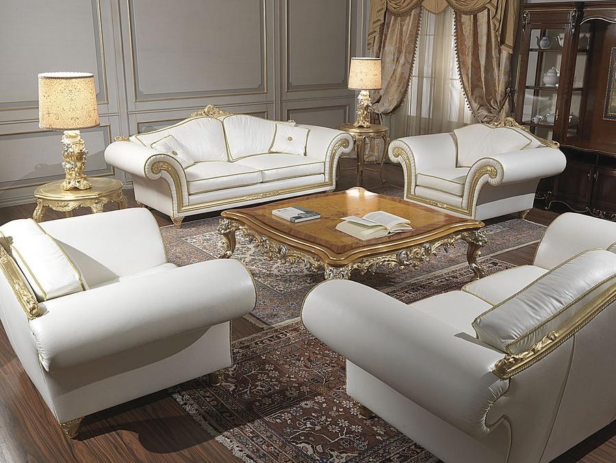 Divani Classici In Stile.Collezioni Divani Classici Modello Imperial In Pelle Bianca
