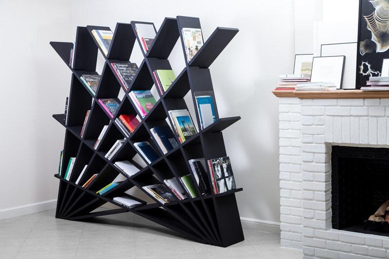 Scaffali Per Libri Design.Maryam Pousti Progetta Uno Scaffale Per Libri Di Collegamento