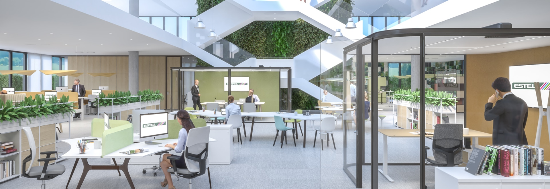Ambiente ufficio intelligente italiano