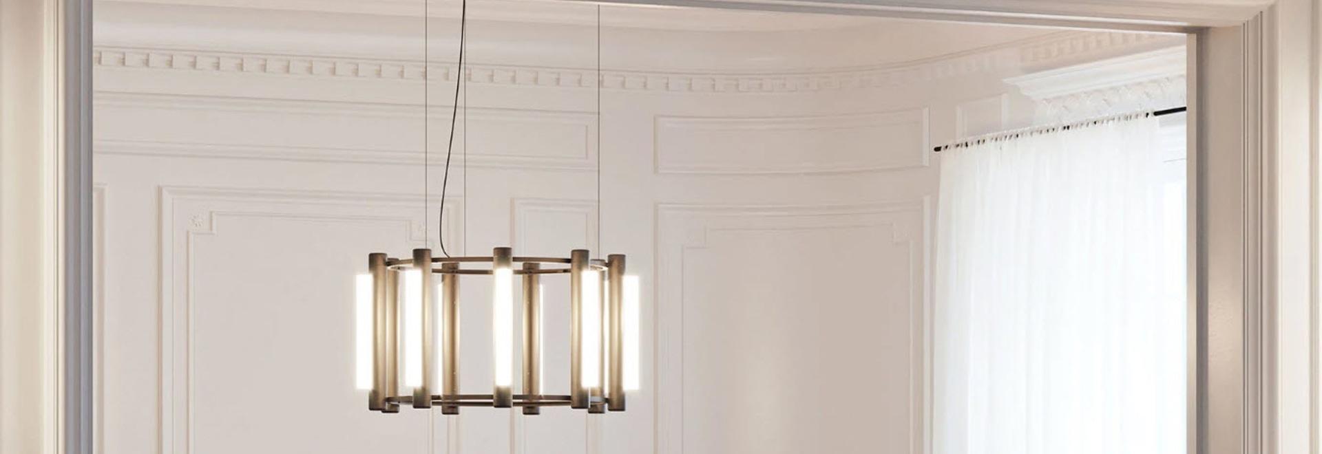 """Caine Heintzman estende la serie di apparecchi d'illuminazione """"pipeline"""" con design a lampadario per ANDlight"""