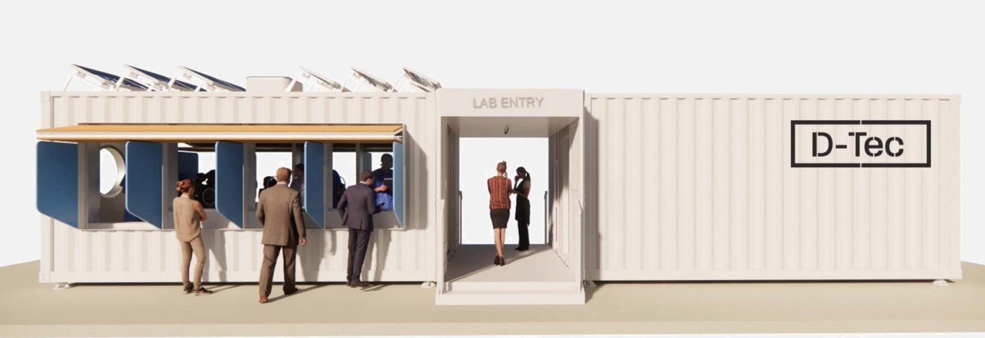 Grimshaw progetta una gamma di centri di test coronavirus per container per la spedizione