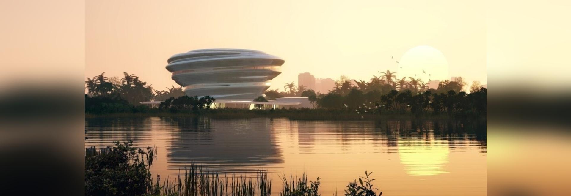 """MAD modella il museo della scienza e della tecnologia di Hainan """"come una nuvola in dialogo con la natura"""
