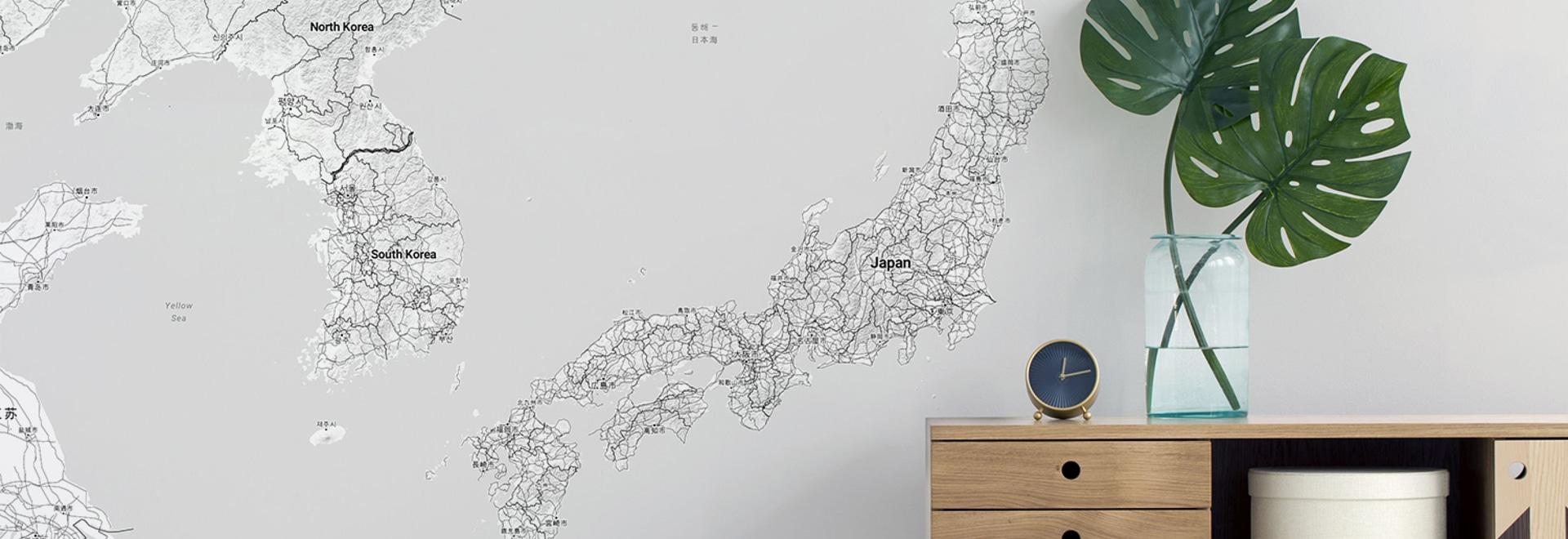 Mappa Giappone Minimalista