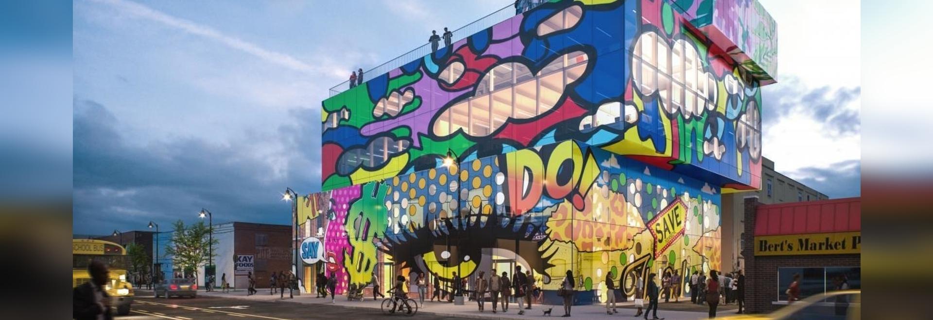 Il nuovo edificio in vetro di MVRDV nel mercato orientale di Detroit è una lettera d'amore alla città