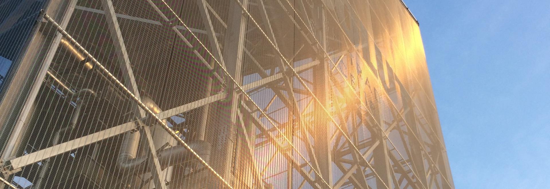 Rivestimento della facciata in rete metallica in acciaio inox