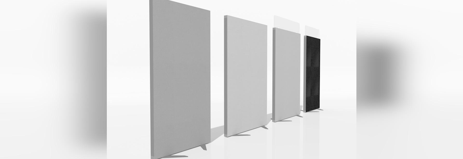 schermo di protezione acustica EKOE DECO per ufficio