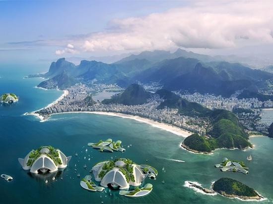 vista aerea della spiaggia di copacabana