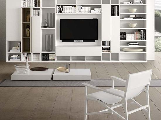 NOVITÀ: parete attrezzata TV moderno by PIANCA