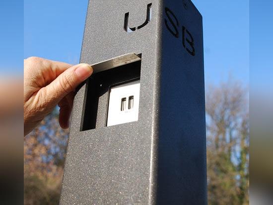 USB BOLLARD/USB SOPPORTATO dall'APPARECCHIATURA URBANA di FREPAT