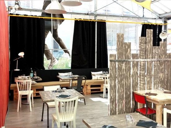 Restaurant Le Temps Suspendu: Tetto di vetro