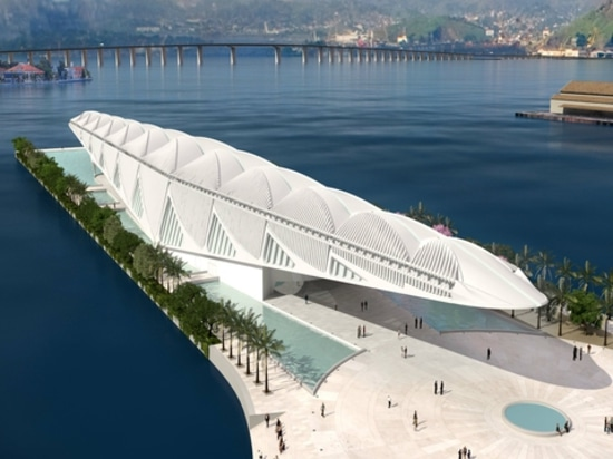 Il museo di galleggiamento di Rio da Santiago Calatrava. Cortesia dell'architetto.
