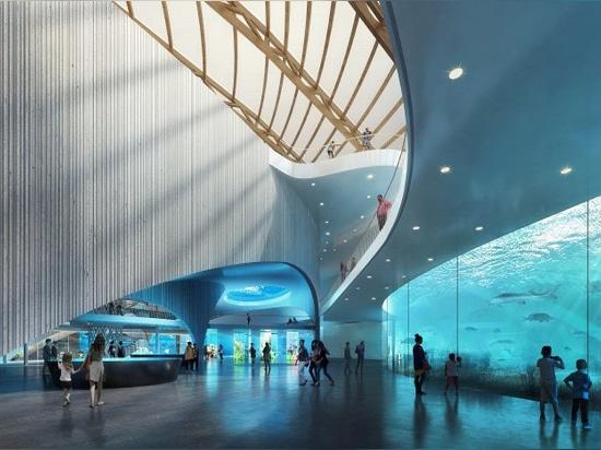 riserva naturale di piani degli architetti del ennead con un acquario pubblico in porcellana