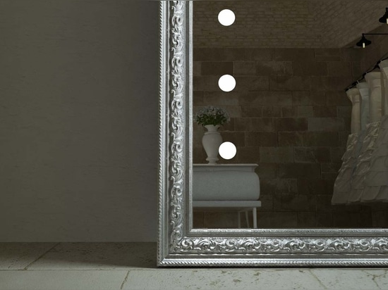 framed lighted mirrors