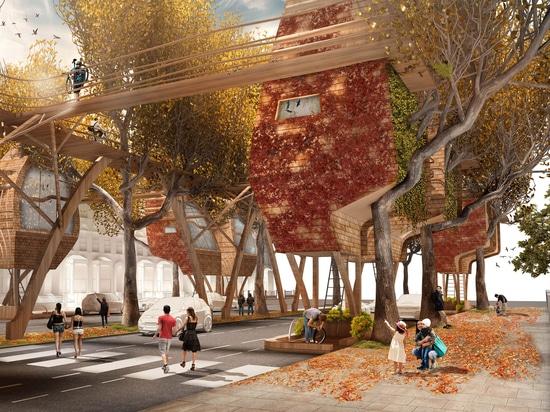 Baccelli degli alberi di strada: Una proposta creativa per aggiungere altri alloggi a Londra