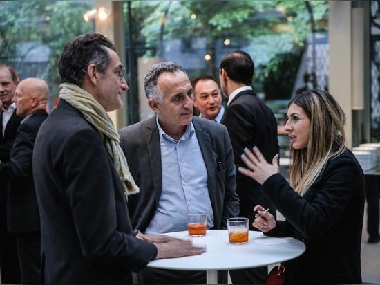 La dolce vita: Festa di Wilkhahn nello spazio espositivo di Villa Necchi Campiglio, Milano. Foto: Wilkhahn