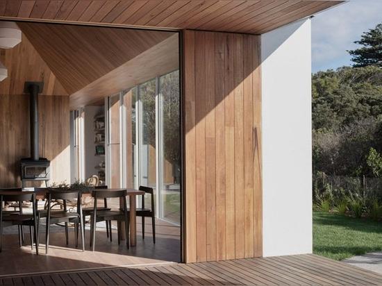 edizione ufficio costruisce una residenza monolitica di quattro padiglioni interconnessi in australia