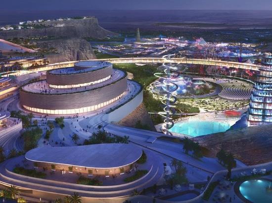 bjarke ingloba i masterplan di gruppo 'qiddiya', la tentacolare capitale saudita dello spettacolo
