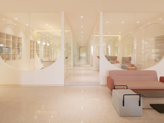 penda china disegna grotte rosa di bellezza per i saloni narcisi di Pechino