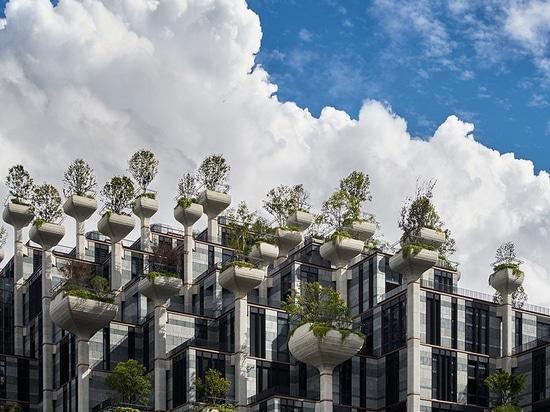 a Shanghai prende forma lo sviluppo dei '1000 alberi' ad uso misto dello studio heatherwick