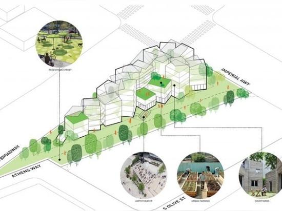spedizione container appartamenti trasformare isola traffico di trasformare isola di traffico a casa senza fissa dimora a Los Angeles