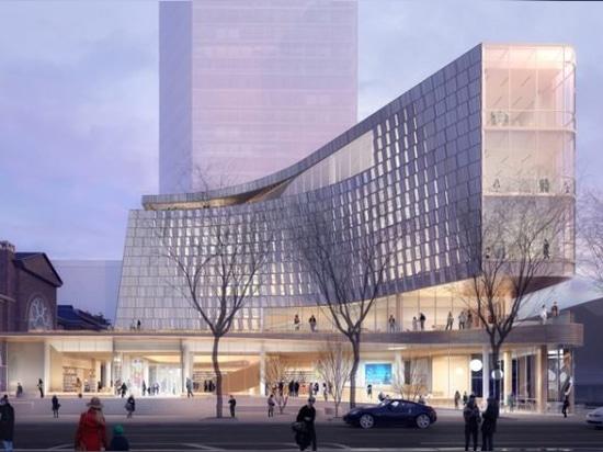 """snøhetta e clark nexsen svelano la nuova biblioteca """"tecnologicamente avanzata"""" per charlotte, USA"""