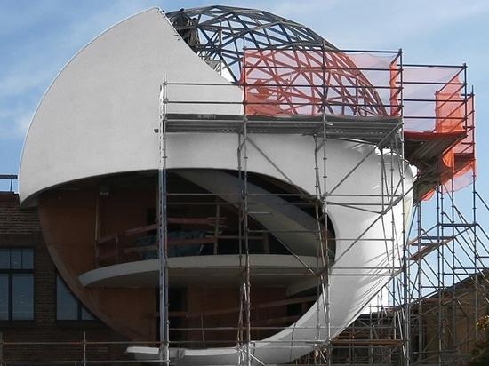 sfera niemeyer: in Germania prende forma uno dei progetti finali dell'architetto brasiliano