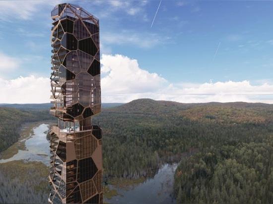 L'architettura MU combatte l'espansione urbana con la torre residenziale PEKULIARI a quebec
