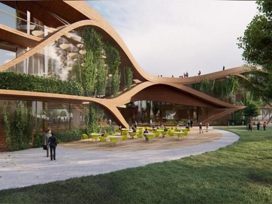 """LAVA progetta """"LIFE hamburg"""" a zero emissioni di carbonio con pozzi d'acqua e un tetto commestibile"""