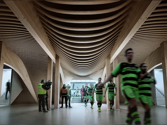 L'All-Timber Football Stadium di Stroud di Zaha Hadid Architects ottiene l'approvazione del Consiglio Comunale