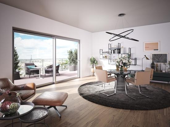 Sistema di porte scorrevoli ottimizzato per l'edilizia residenziale e commerciale di alto livello