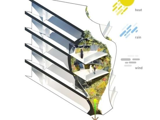Gli architetti immaginano un grattacielo verde ad energia solare