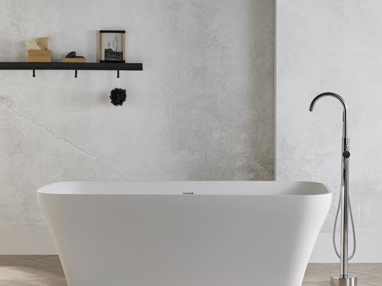 Vasca da bagno a superficie solida autoportante Silene