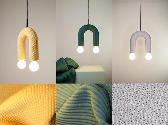 Collezione di illuminazione DUO. Da sinistra a destra: mosaico, pula, zuccherini.