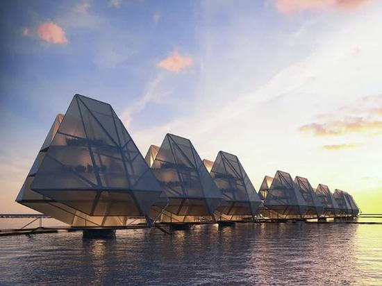 Dada prevede unità abitative modulari galleggianti per le comunità costiere di tutto il mondo