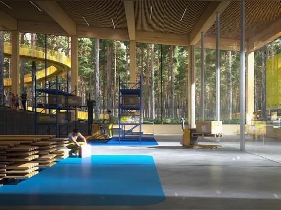 """BIG progetta la """"fabbrica di mobili più sostenibile del mondo"""" in Norvegia"""