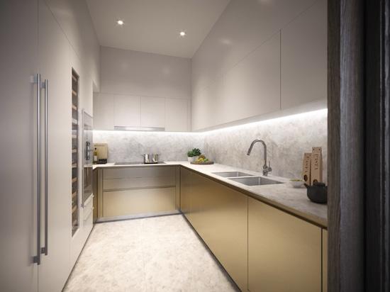 Thomas Juul-Hansen opta per i toni della terra negli appartamenti Scope Langsuan di Bangkok