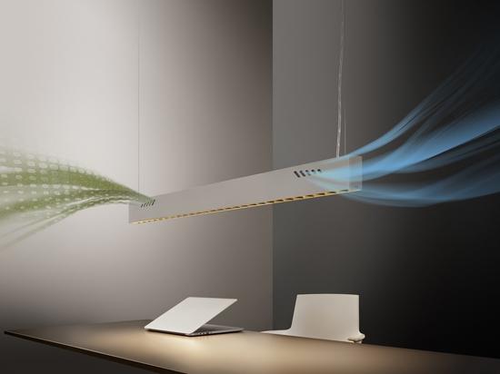 Pure BioAir, una lampada di Olev che disinfetta gli interni. Per gentile concessione di Olev
