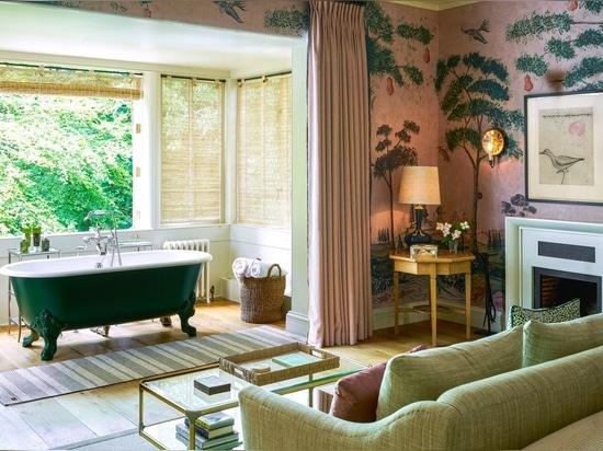 La suite Pavilion Two dell'hotel Lime Wood
