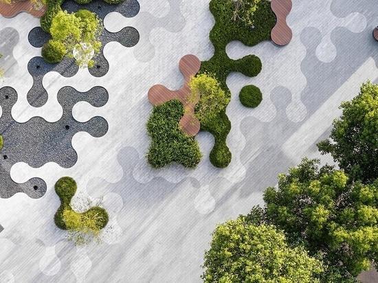 Un paesaggio di forme sinuose è stato progettato per questo parco