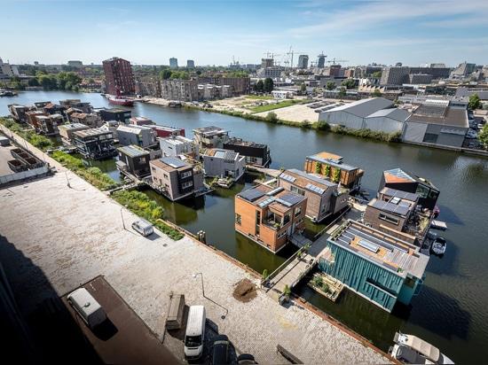 Sfruttare l'aumento del livello del mare: Schoonschip, una comunità circolare intelligente che galleggia